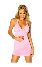 Розовое мини-платье КП-20