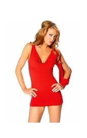 Клубное платье красное