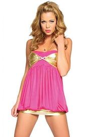 Клубное платье розовое с золотом