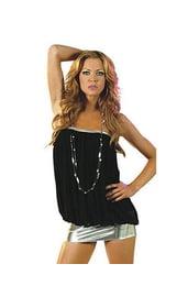 Черное платье в стиле диско