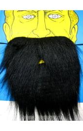 Борода черная на резинке