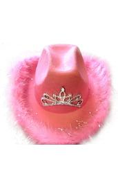 Шапка ковбойская розовая