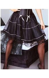 Мини-юбка черная