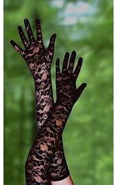 Перчатки черные длинные