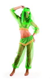 Костюм арабской танцовщицы зеленый