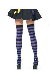 Чулки ведьмы черно-фиолетовые