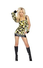 Клубное желто-черное платье