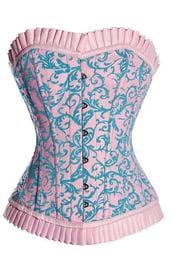 Корсет розово-голубой