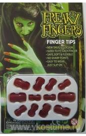 Накладные ногти красные