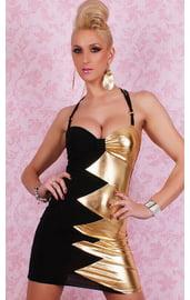 Клубное платье черно-золотое