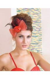 Шляпка красная с бантом