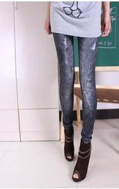 Леггинсы черная джинса