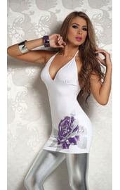 Платье белое с цветком