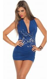 Клубное платье синее