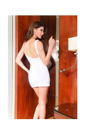 Платье белое с молнией
