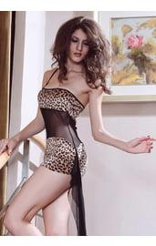 Платье леопардовое со шлейфом
