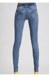 Леггинсы голубые джинсы