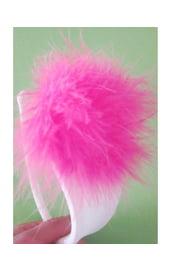 С-стринги с розовым пухом