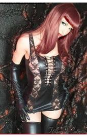 Платье эротичное с кружевом