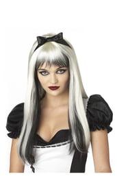 Парик Алисы бело-черный