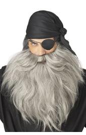 Седые борода и усы пирата