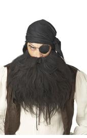 Черные борода и усы пирата