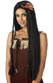 Парик принцессы индейцев deluxe