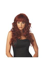 Рыжий парик чувственной девушки