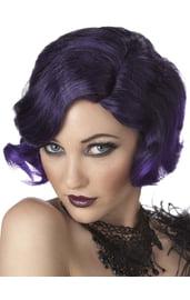 Парик девушки кабаре фиолетовый