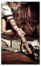 Подвязка со шнуровкой черная