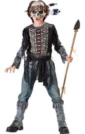 Костюм скелета индейца детский