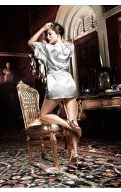 Халатик серебристый сатиновый