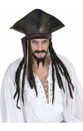 Пиратская шляпа с дредами