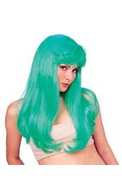 Гламурный зеленый парик