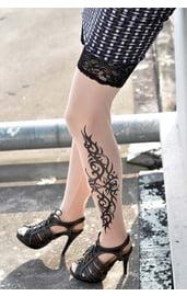 Чулки с татуировкой