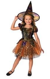 Детский костюм элегантной ведьмочки
