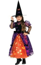 Детский костюм сияющей ведьмочки