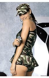Прозрачное платье в стиле милитари