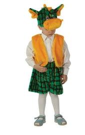 Детский костюм зелёного дракончика