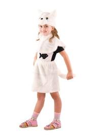 Детский костюм беленькой кошечки