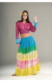 Разноцветная юбка хиппи