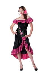 Костюм танцовщицы фламенко черно-розовый