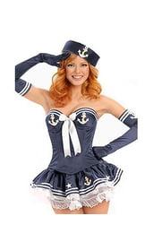 Корсетный костюм морячки