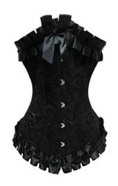 Гофрированный чёрный корсет