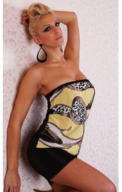 Клубное яркое платье