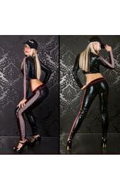 Чёрный костюм секси рейсерши