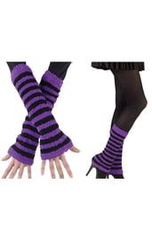 Черно-фиолетовые гетры