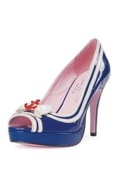Туфли морячки на каблуке