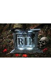 Надгробная плита с чёрной розой 50 см