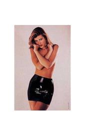 Латексная мини юбка